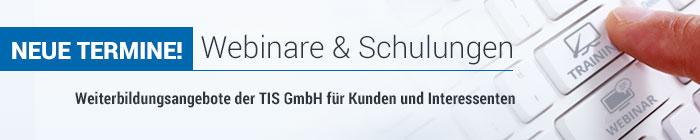 Webinare & Schulungen der TIS GmbH
