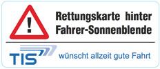 Rettungskartenaufkleber der TIS GmbH