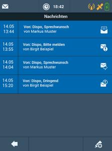 TISLOG Logistik-Software Nachrichten-Dialog | TIS GmbH