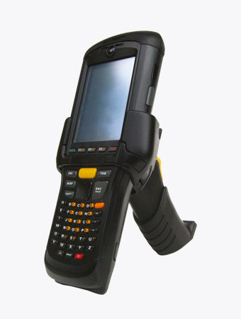 TISPLUS Hardware Zubehör für die Logistik: Scan Handle montiert mit Zebra MC95