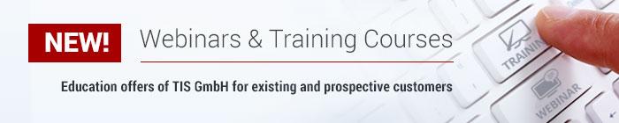 Webinars and Training Courses of telematics provider TIS GmbH