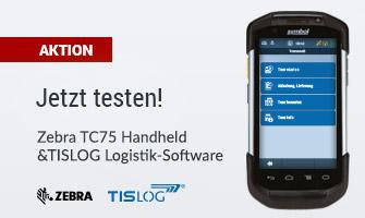 Speditionssoftware und Logistiksoftware, sowie Logistik-Hardware: Aktion! Werden Sie Tester: Zebra TC75 und TISLOG Logistik-Software