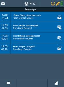 TISLOG mobile Enterprise - Software Dialog Messages