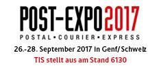 Telematikanbieter TIS GmbH auf der Post-Expo 2017