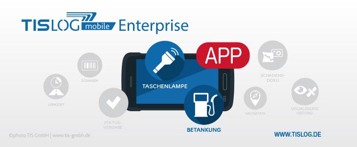 Features in TISLOG mobile Enterprise Logistik-Software