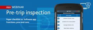 Free webinar of TIS GmbH - pre-trip inspection