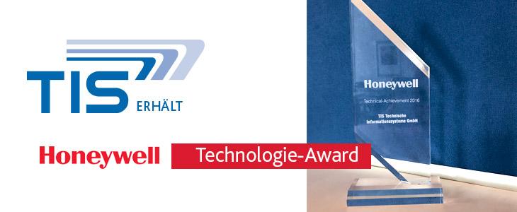 Honeywell Technical-Achievement 2016 Award für die TIS GmbH