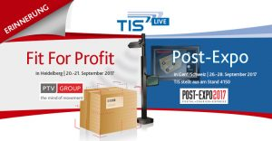 Treffen Sie TIS auf der Post-Expo 2017 oder Fit For Profit